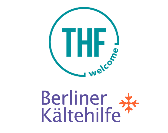 Logo Kältehilfe und Logo THF Cafe